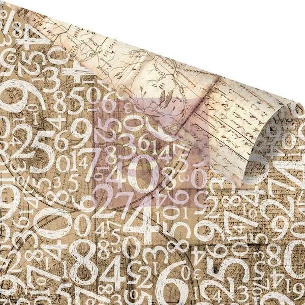 Scrapbooková čtvrtka Engraver - Black Leaf - sb čtvrtka vhodná pro scrapbooking a cardmaking Prima Marketing