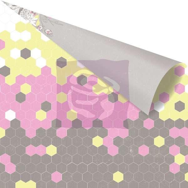 Scrapbooková čtvrtka Hello Pastel - Butter Cream - sb čtvrtka vhodná pro scrapbooking a cardmaking Prima Marketing