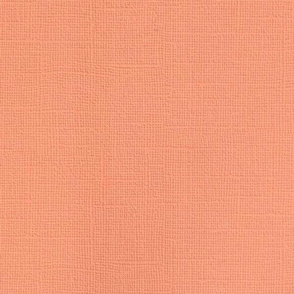 Texturovaná čtvrtka - papír na scrapbooking Basic Papaya Ursus