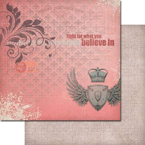 The Queen's Heart - For a Reason - Scrapbooková čtvrtka od 7 Dots Studio vhodná pro scrapbooking a cardmaking