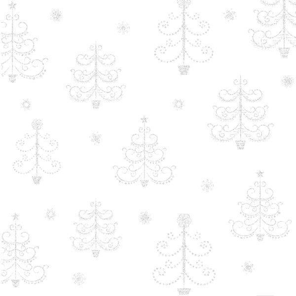 Transparentní papír 30x30cm - Vánoční stromečky Design Objectives