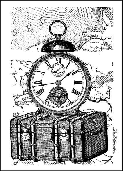 Traveling Collection - Razítko na bílé pěně, výrobce LaBlanche, scrapbooking