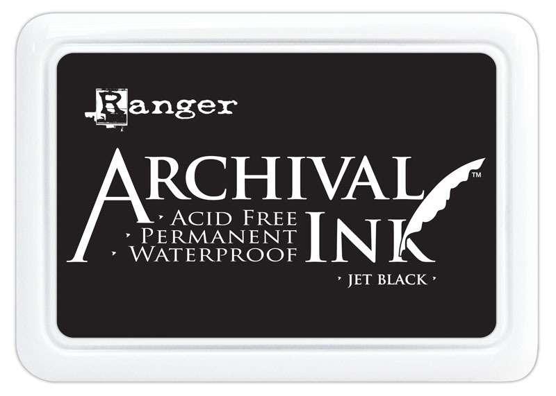 Ranger - Inkoustový polštářek Archival - Jet Black
