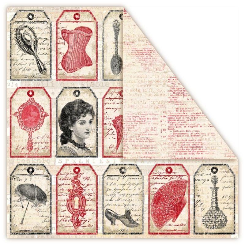 Čtvrtka na scrapbook, oboustranná, z kolekce Holmes in Love - Adler UHK Gallery