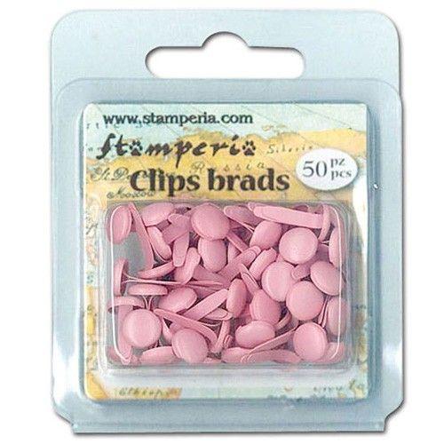 Dekorační hřebíčky aneb brads na scrapbooking Hřebíčky na scrapbook 50ks růžové STAMPERIA
