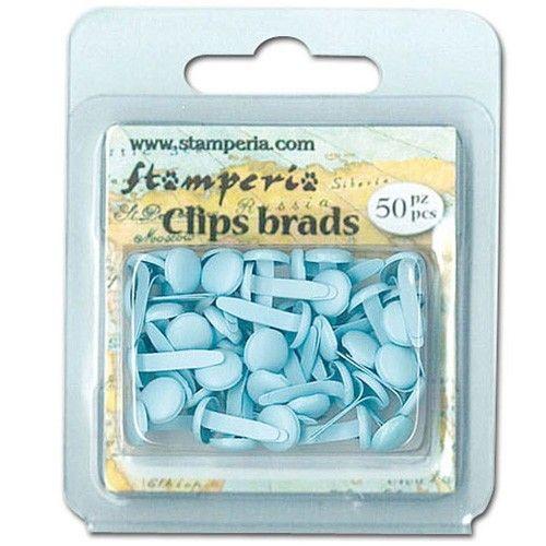Dekorační hřebíčky aneb brads na scrapbooking Hřebíčky na scrapbook 50ks světle modré STAMPERIA