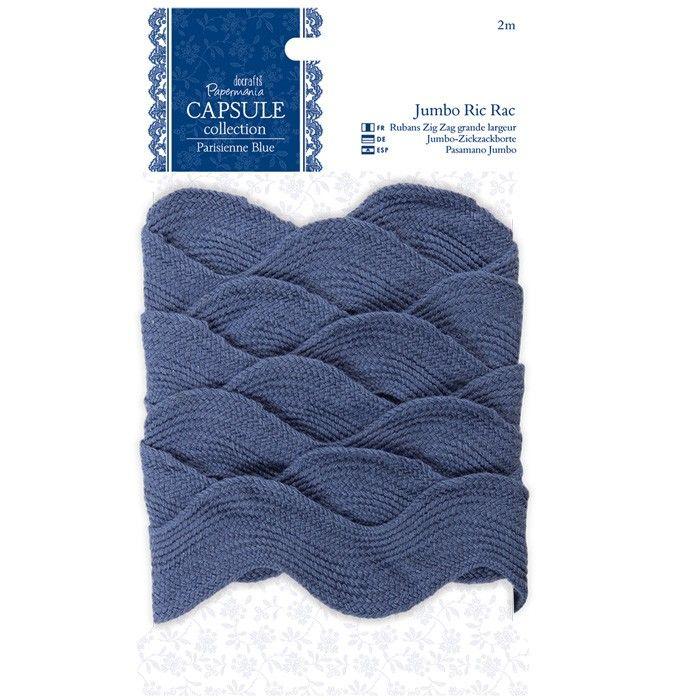 Dekorační stuha (2m) Ric Rac široká Capsule - Parisienne Blue Papermania