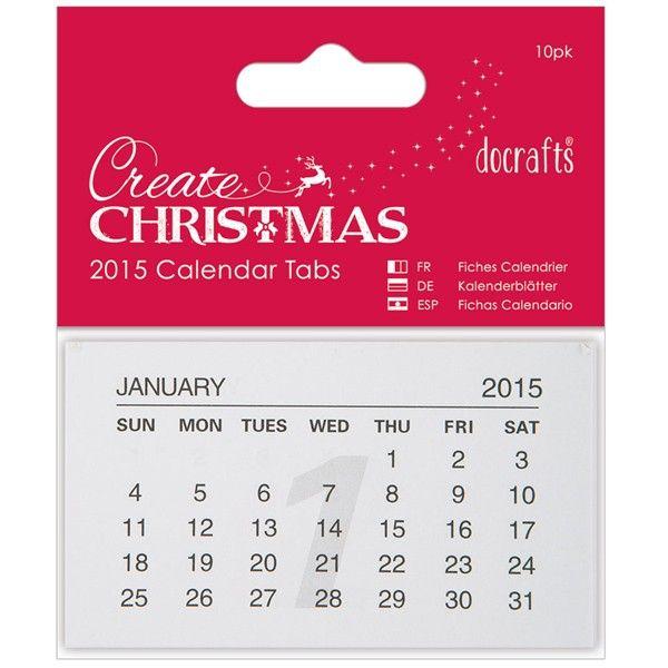 Kalendářové lístečky 2015 Anita´s