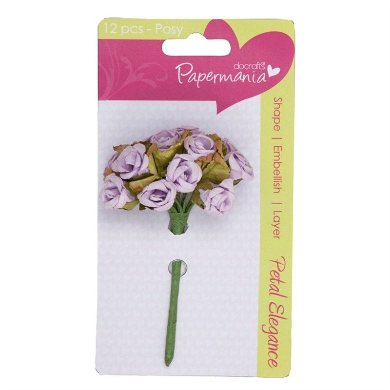 Kytice růžiček LILAC ROSE Papermania