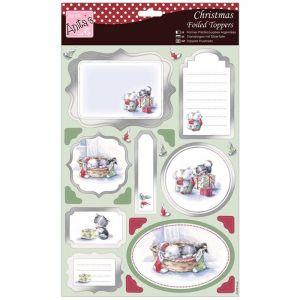 Papírové výseky A4 a papír (Toppers) Domácí mazlíčci a Vánoce