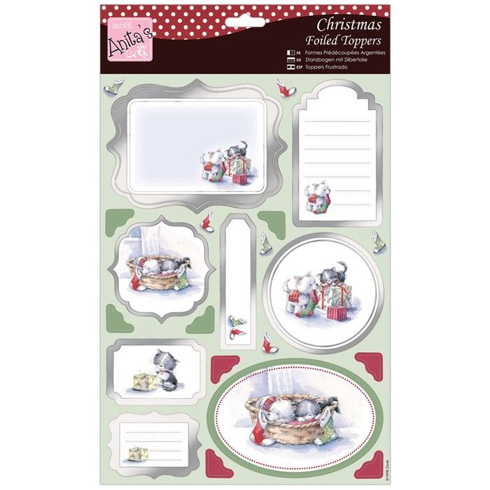Papírové výseky A4 a papír (Toppers) Domácí mazlíčci a Vánoce Anita´s
