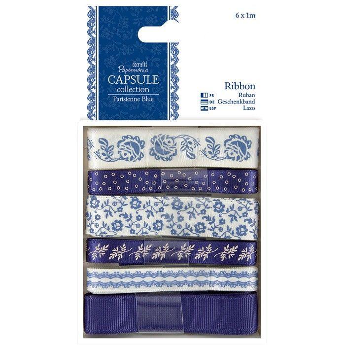 Sada stuh 6x1m Capsule - Parisienne Blue Papermania