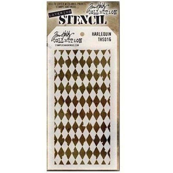 Scrapbooková šablona by Tim Holtz - Harlequin, 17x8,5 cm Dutch Doobadoo