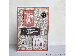 STAMPO SCRAP, STEAMPUNK, 27 ks , určeno na scrapbooking a cardmaking a Project Life Aladine