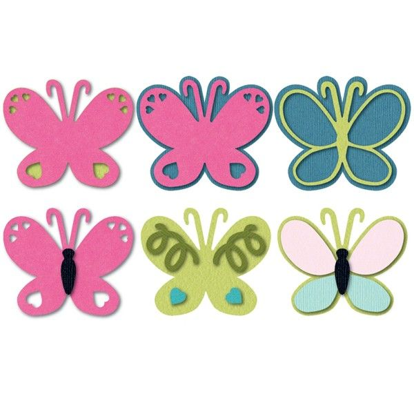 Vyřezávací šablony - Triplits motýlci 13 ks Sizzix