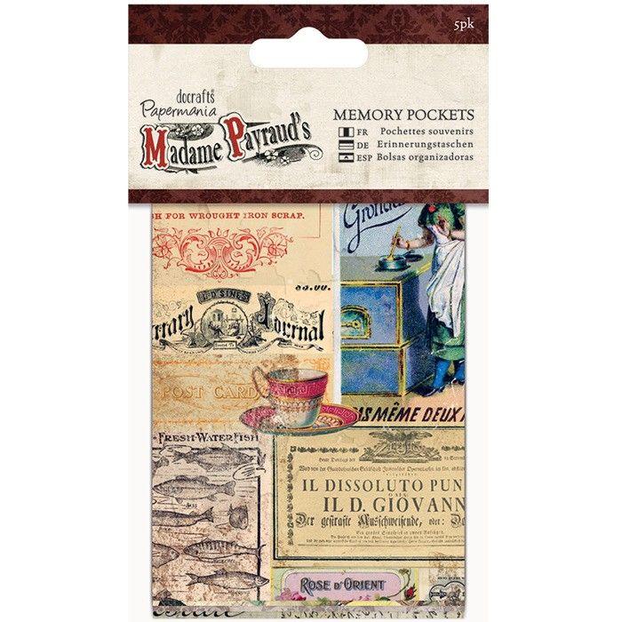 Vzpomínkové kapsičky (5ks) - Madame Payraud Papermania