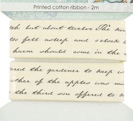 Bavlněná tištěná stuha Text (2m) SCRAPBERRYS