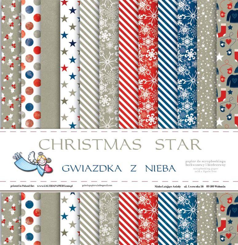 Christmas Star - Blok, sada oboustranných čtvrtek 2x6 designů Galeria Papieru