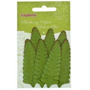 Dekorační kapradinové listy zelené (7ks)
