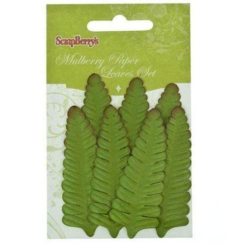 Dekorační kapradinové listy zelené (7ks) SCRAPBERRYS