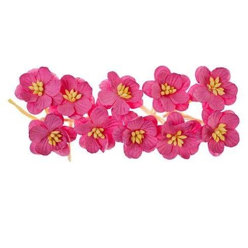 Dekorační třešňové květy (10ks) růžové SCRAPBERRYS