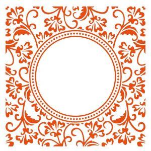 Embosovací kapsa 15x15cm kruh s ornamenty Marianne Design