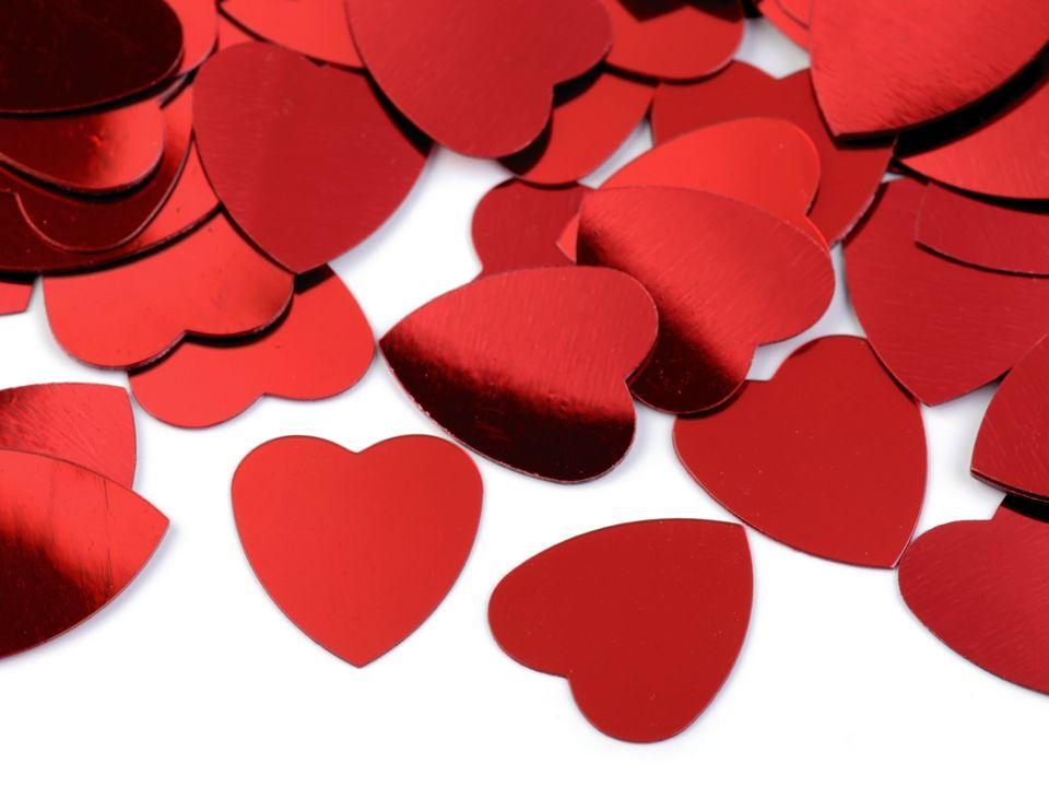 Konfety srdce 17x18 mm nezařazeno