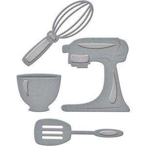 Kuchyňský robot - vyřezávací a embosovací kovové šablony (4ks)