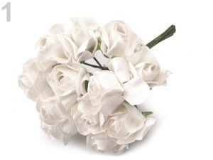 Kytice růží-Dekorace květy růže-bílá mléčná