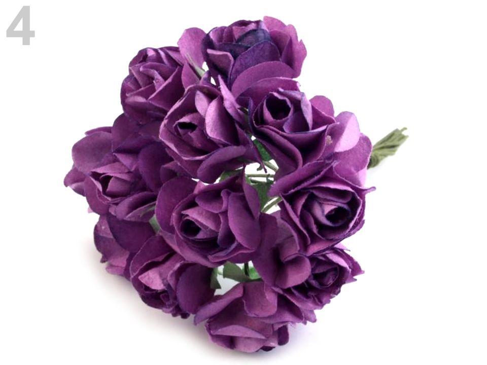 Kytice růží-Dekorace květy růže-fialová