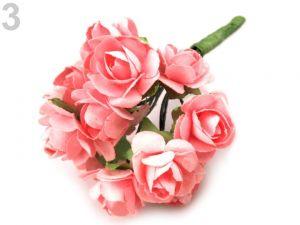 Kytice růží-Dekorace květy růže-růžová prášková