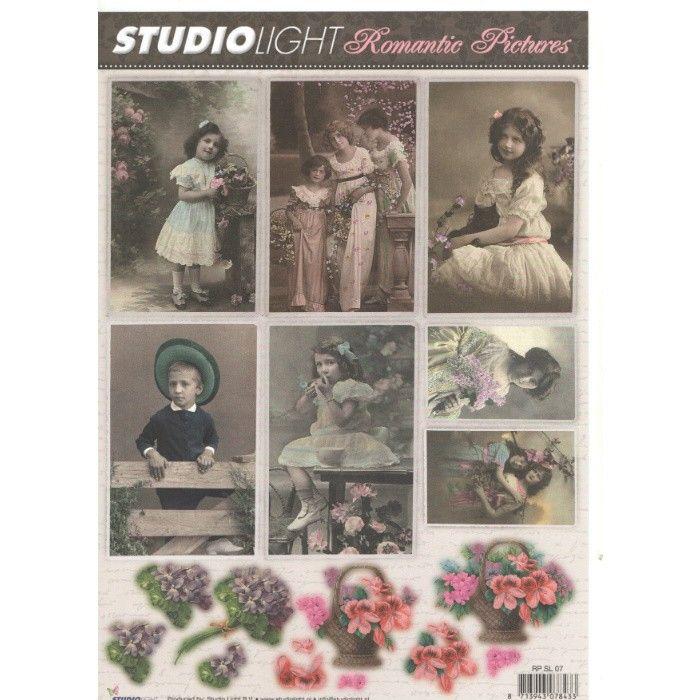 List A4 s obrázky Romantic Pictures č.07 STUDIO LIGHT