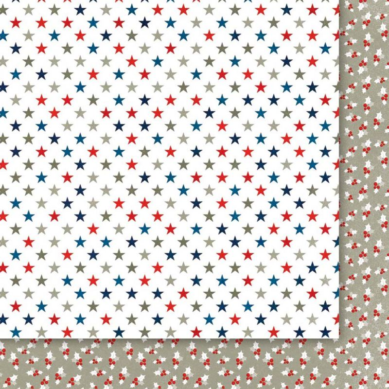 Oboustarnný papír - čtvrtka na scrapbooking Christmas Star 06 Galeria Papieru