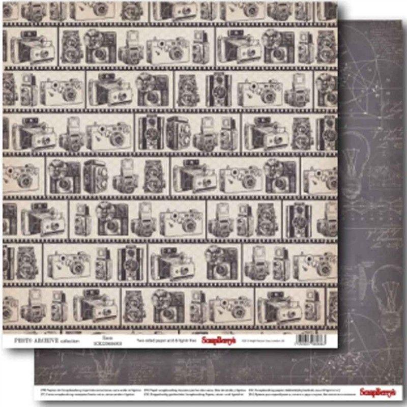 Oboustranný papír na sb - Photo Archive Zoom SCRAPBERRYS