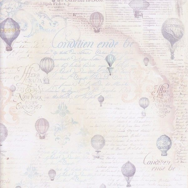 Oboustranný papír na scrapbook Balony a texty STAMPERIA