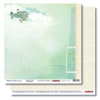 Oboustranný papír na scrapbook ScrapBerry´s Games and Toys vyšší gramáže 190 gsm SCRAPBERRYS
