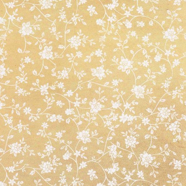 Oboustranný papír na scrapbook Svatební květiny a noty STAMPERIA