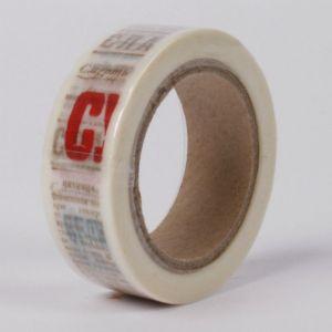 Samolepící papírová páska Noviny