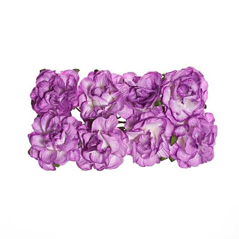 Papírové květiny Jetel (8ks) lila SCRAPBERRYS