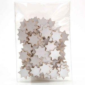 Papírové výřezy hvězdičky stříbrné 1x1cm, strojový mix