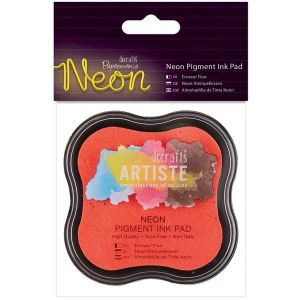 Razítkovací polštářek pigmentový neonový - růžový