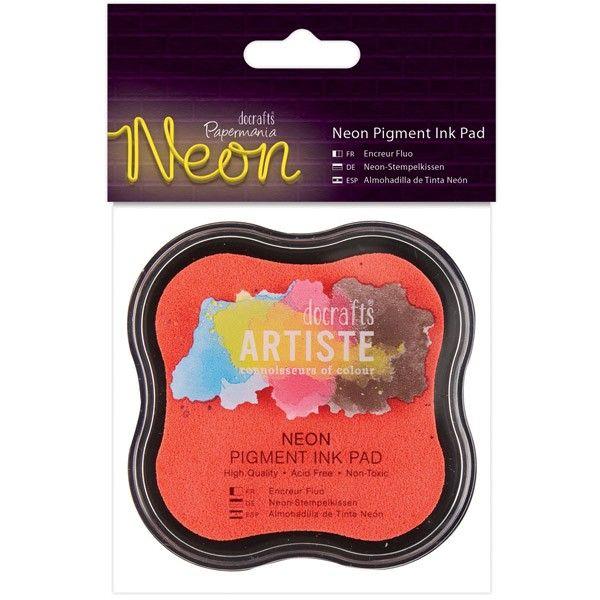 Razítkovací polštářek pigmentový neonový - růžový ARTISTE