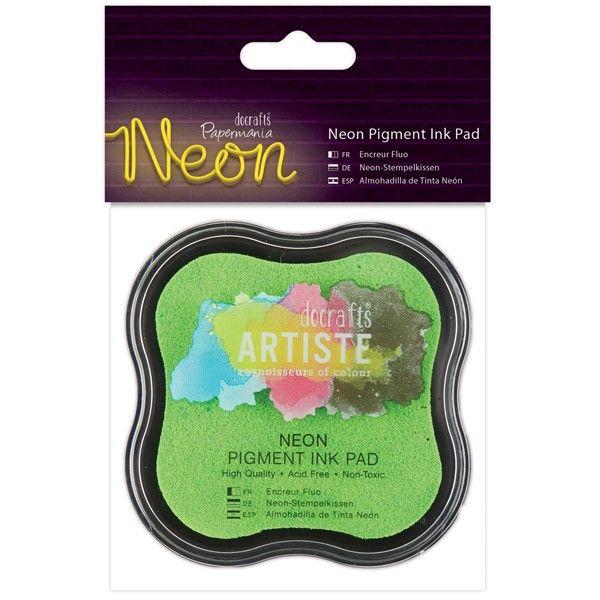 Razítkovací polštářek pigmentový neonový - zelený ARTISTE