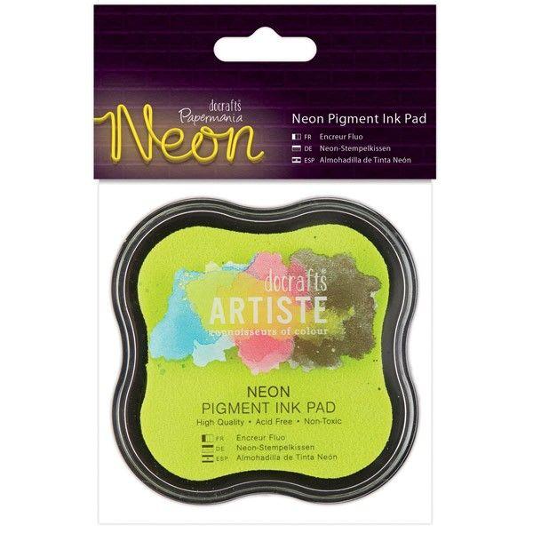 Razítkovací polštářek pigmentový neonový - žlutý ARTISTE