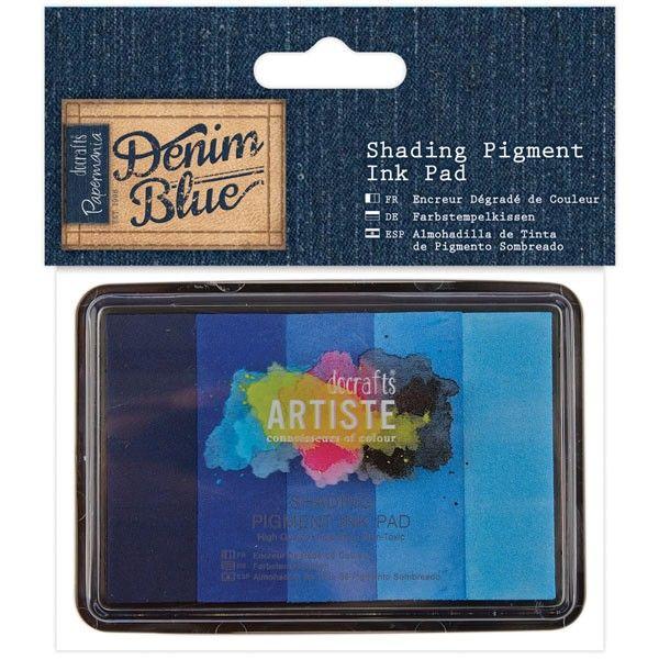 Razítkovací polštářky Artiste pigmentové - Denim Blue (5 odstínů)