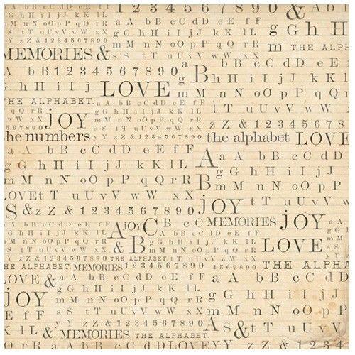 Rýžový papír na decoupage 50x50cm Abeceda, čísla a písmena STAMPERIA