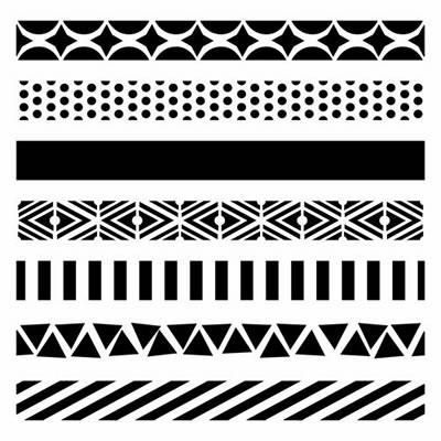 "Šablona 6""x6"" , Pattern Strips, mini TCW"