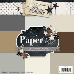 Sada papírů - JEDNOBAREVNÝCH - 15x15cm Frozen Forest