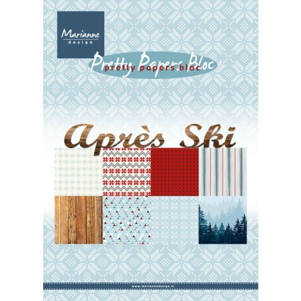 Sada papírů na scrapbooking Marianne Design - Apres Ski, A5 - 8 ks