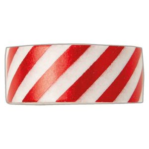 Samolepicí papírová washi páska červeno bílá 1,5 cmx5 m